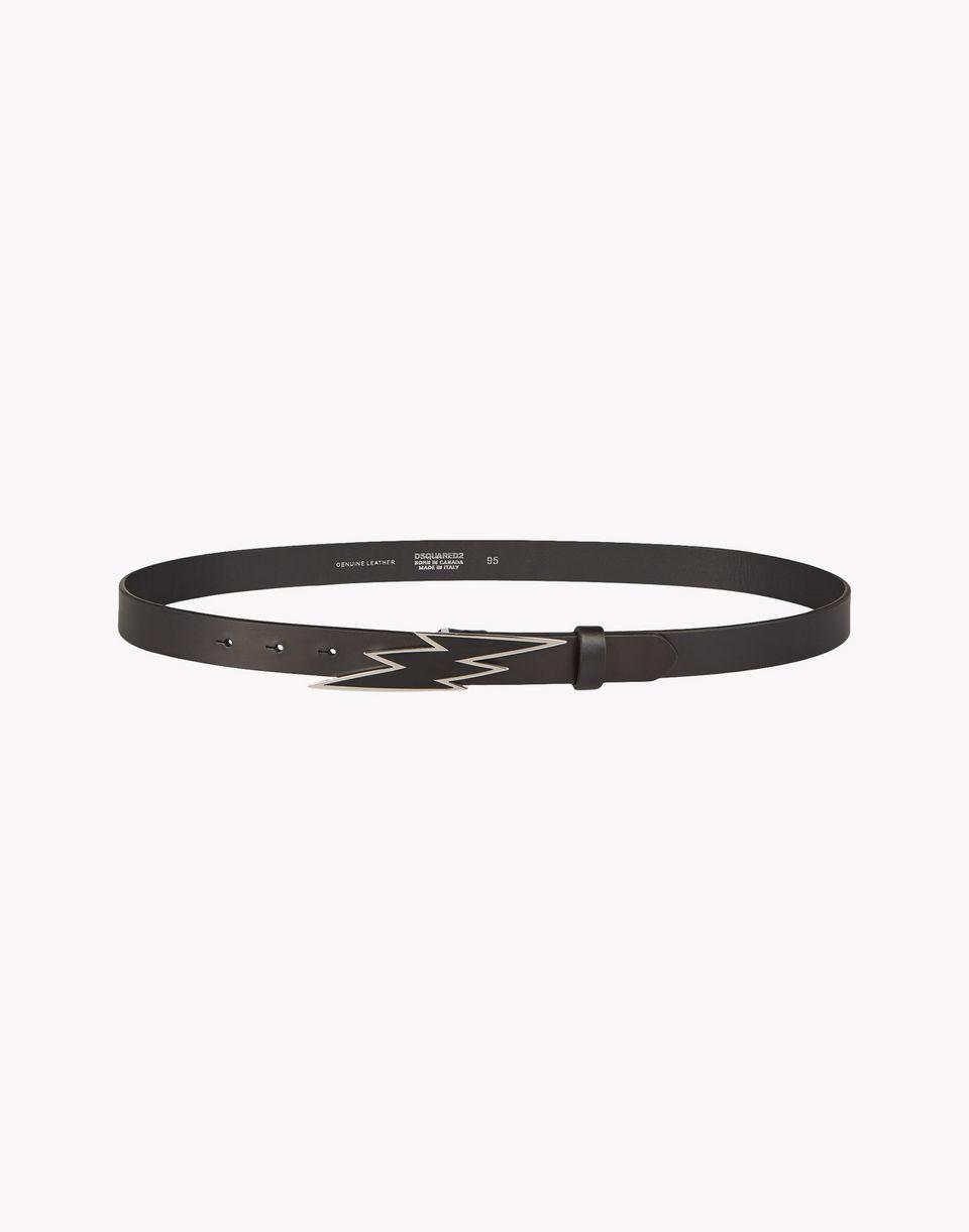 lightning leather belt belts Woman Dsquared2