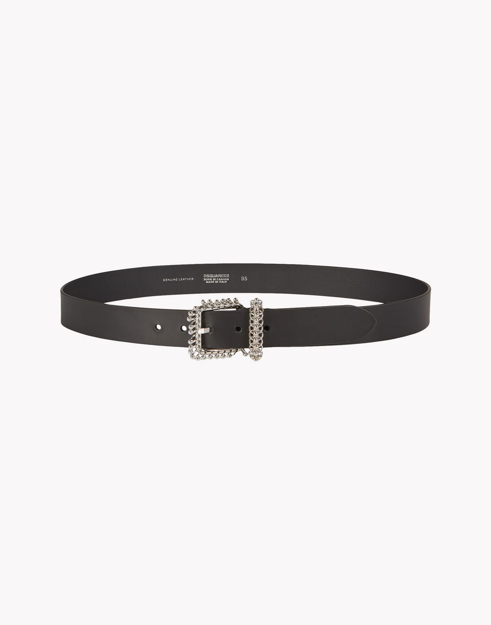 piercing leather belt belts Woman Dsquared2