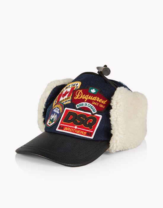 patch denim trapper cap complementos Hombre Dsquared2