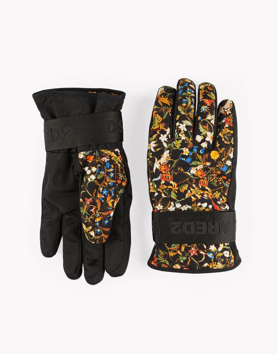 floral technical ski gloves other accessories Man Dsquared2