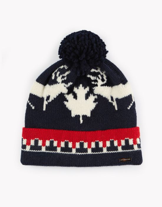 nordic deers knit beanie other accessories Man Dsquared2