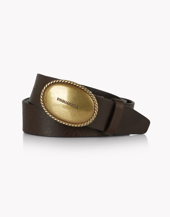 buckle leather belt cinturones Hombre Dsquared2