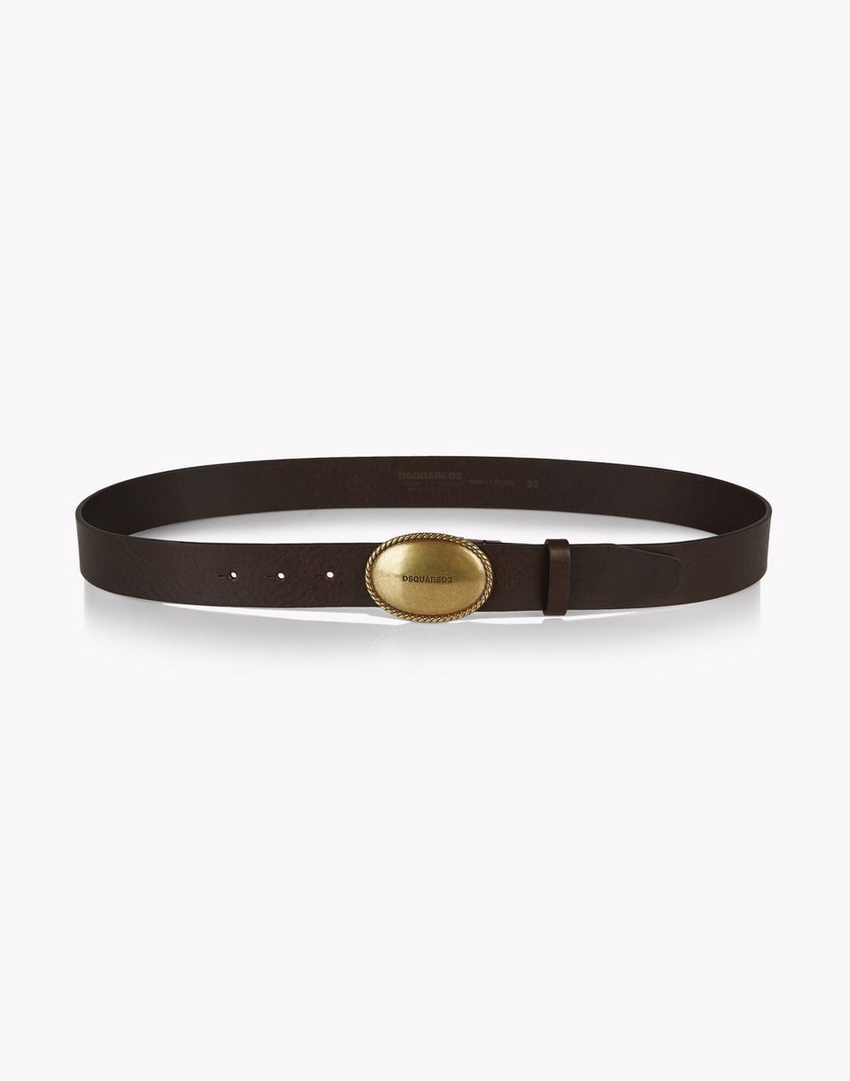 buckle leather belt belts Man Dsquared2