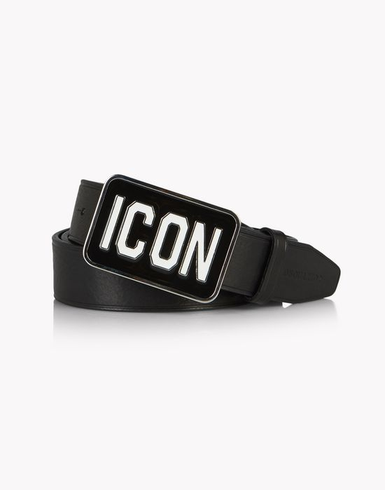 leather icon belt belts Man Dsquared2