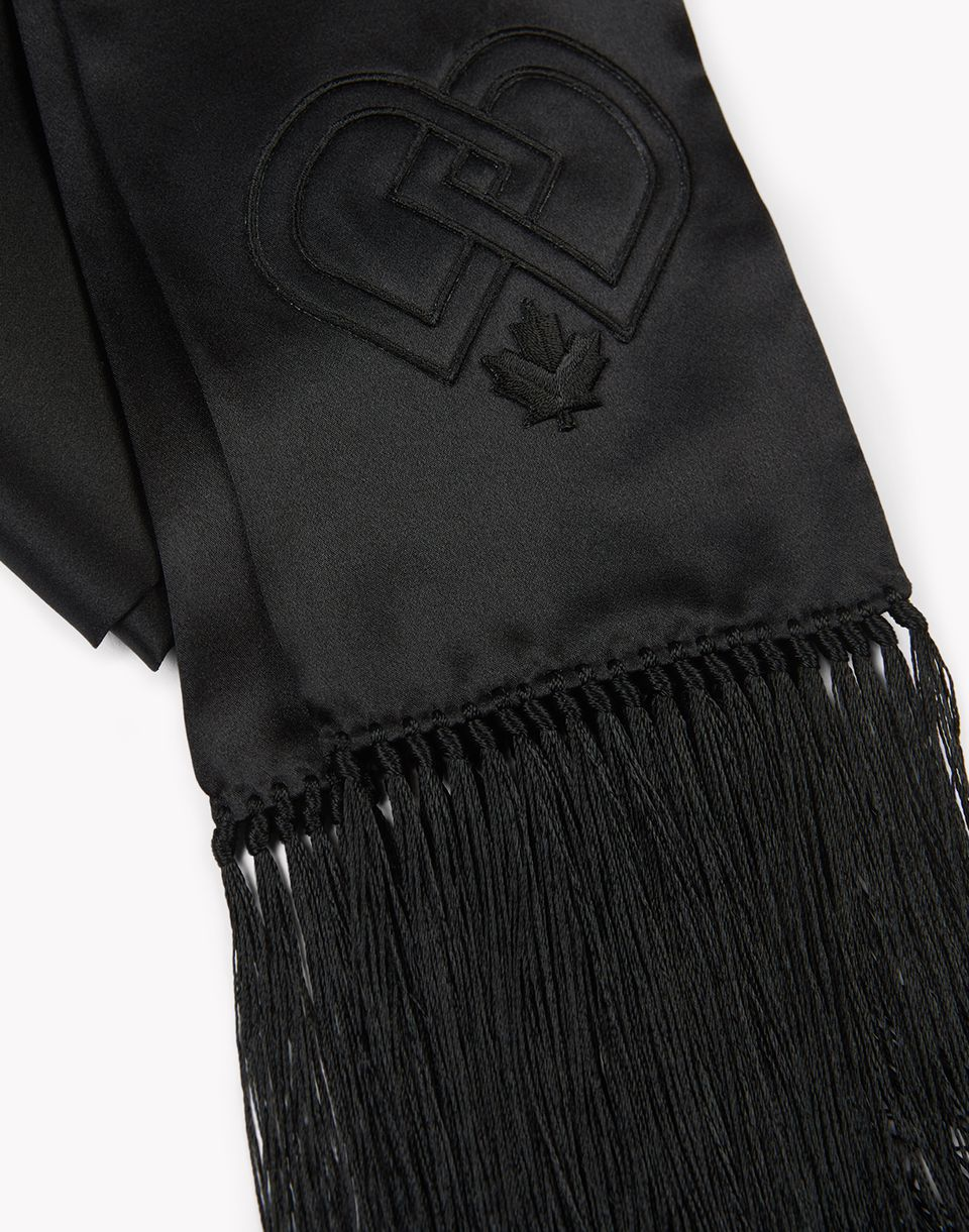 fringed silk scarf other accessories Woman Dsquared2