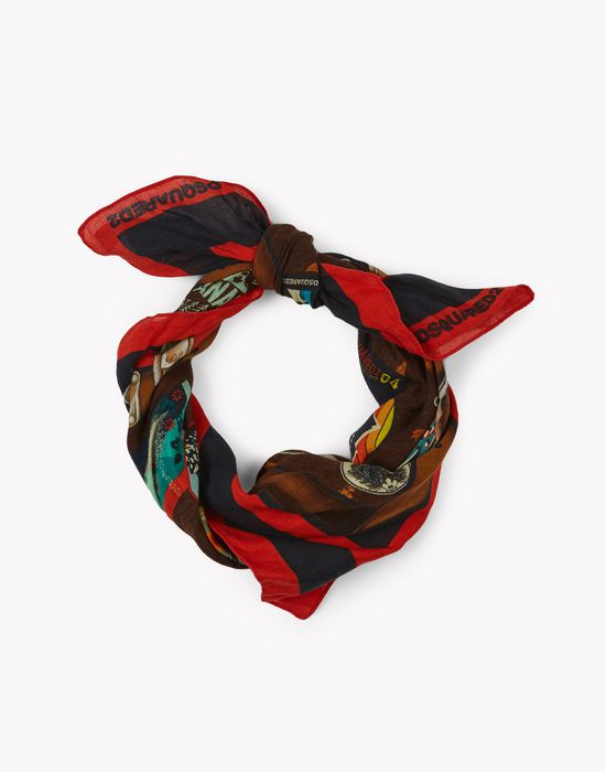 patch print foulard altri accessori Uomo Dsquared2