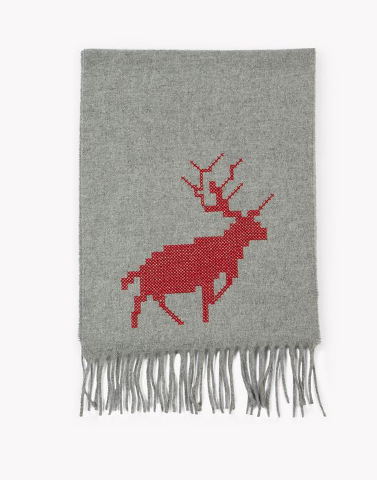 reindeer wool scarf other accessories Man Dsquared2
