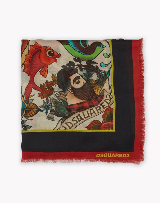 tattoo foulard altri accessori Uomo Dsquared2