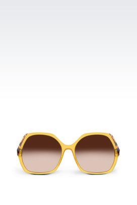 Armani Occhiali da sole Donna occhiali da sole esagonali con astine a contrasto