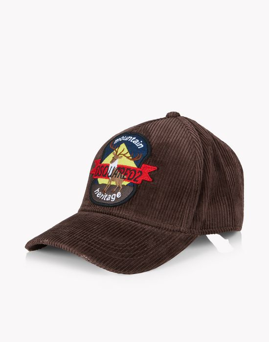 corduroy patch baseball cap other accessories Man Dsquared2