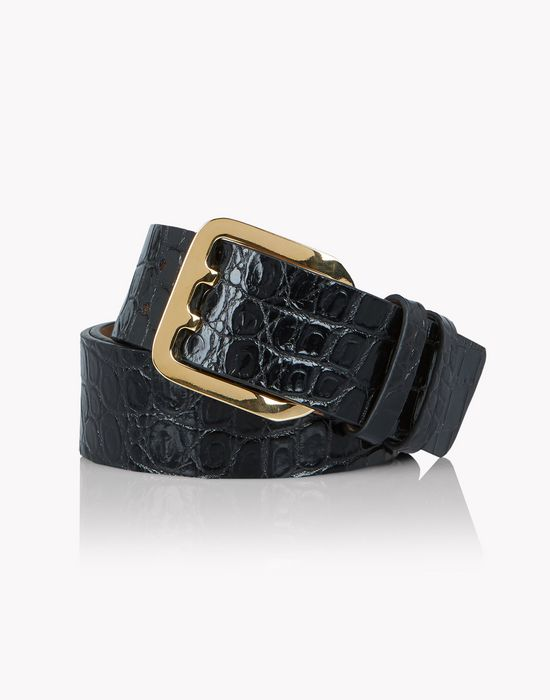 croc-effect leather belt cinture Donna Dsquared2