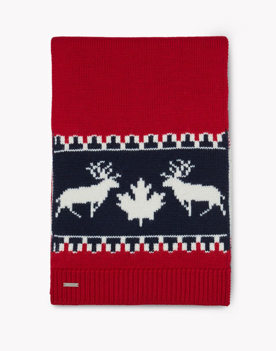 nordic deers wool knit scarf other accessories Man Dsquared2