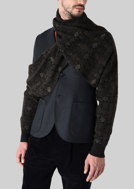 Armani Collars Men wool blend scarf with sleeves