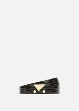 Armani Belts Women two colour crocodile effect leather belt