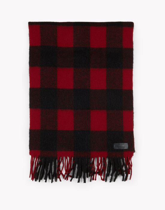 buffalo check wool flannel scarf other accessories Man Dsquared2