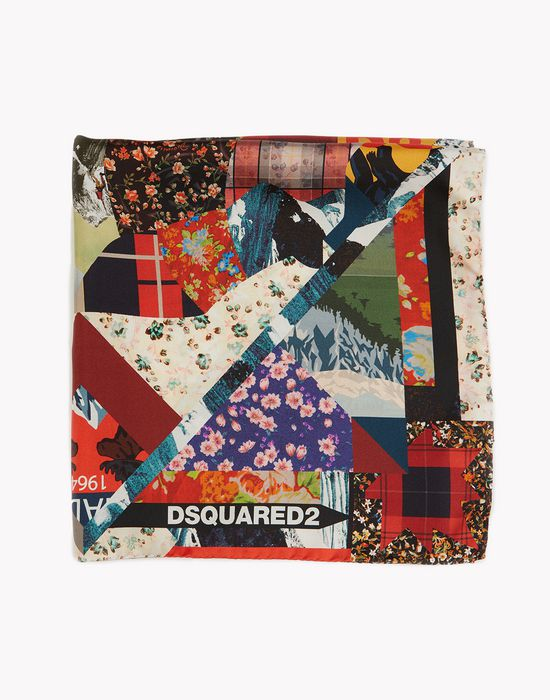 patchwork silk-twill foulard other accessories Woman Dsquared2