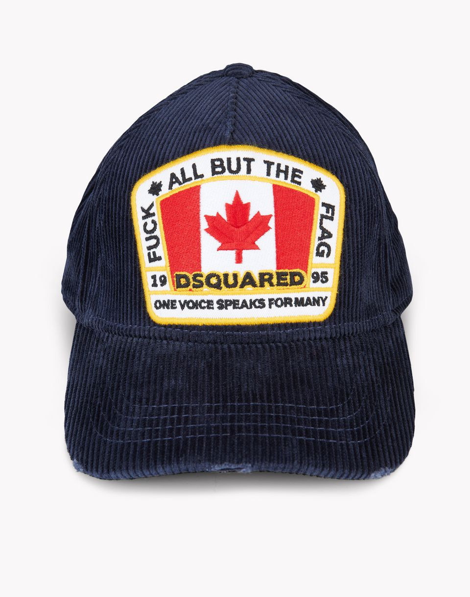 corduroy canada patch baseball cap other accessories Man Dsquared2