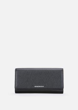 Armani Wallets Women saffiano leather wallet