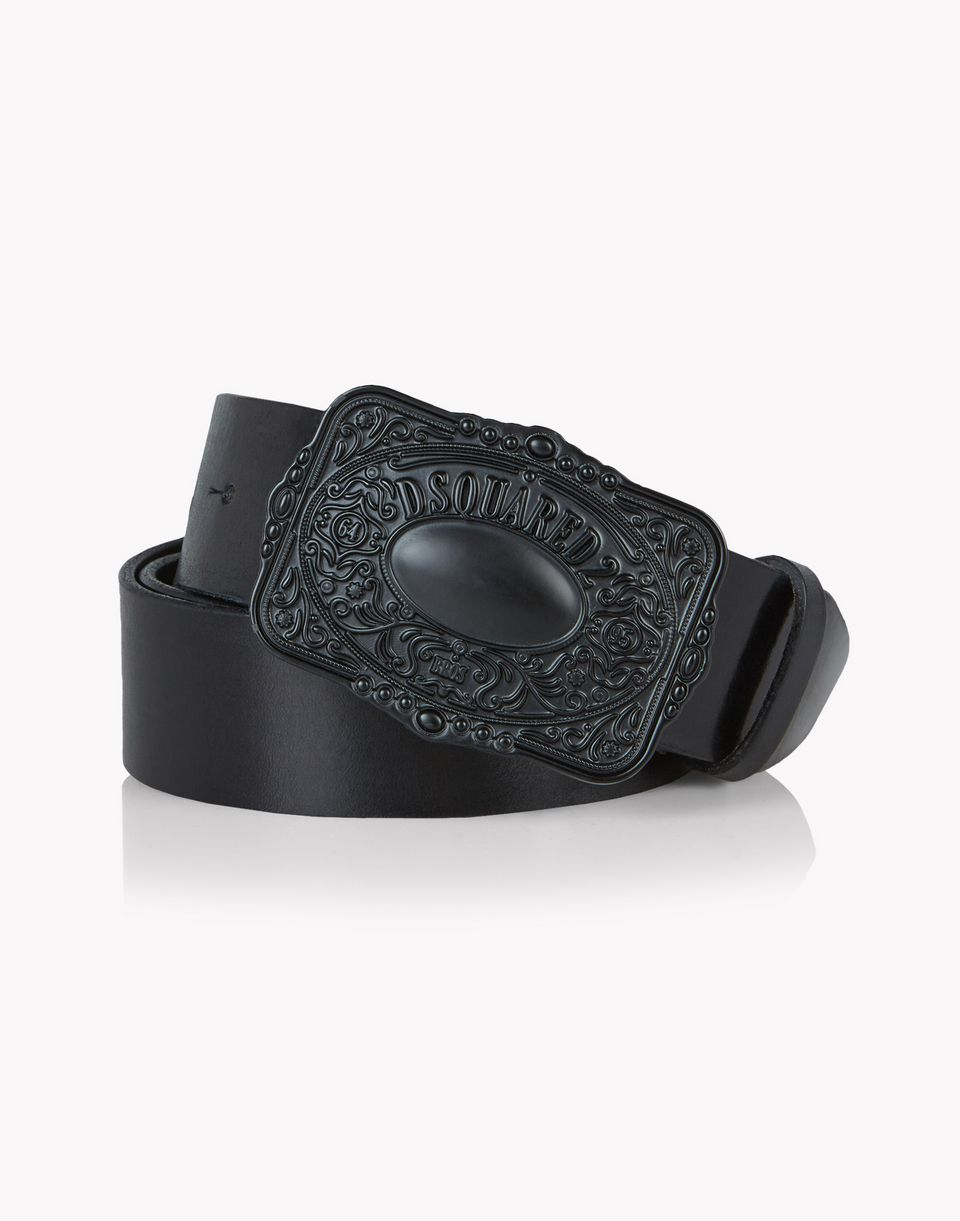 caravan buckle leather belt belts Man Dsquared2
