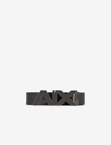 아르마니 익스체인지 남성 리버시블 로고 벨트 블랙 Armani Exchange REVERSIBLE LOGO BELT,BLACK