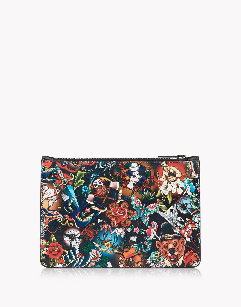 tattoo leather pouch other accessories Man Dsquared2