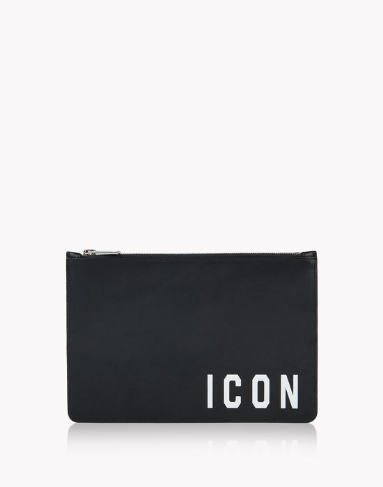 icon leather pouch other accessories Man Dsquared2