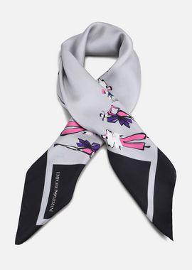 Armani Foulards Women silk scarf with maquette print