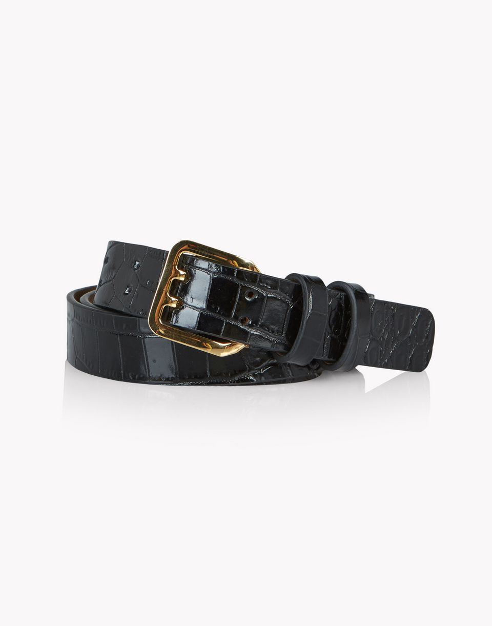 croc-effect leather belt belts Woman Dsquared2