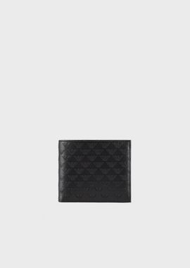 Armani Wallets Men all-over print leather wallet