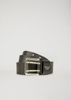 Armani Belts Men printed and boarded leather belt