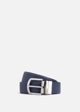 Armani Belts Men all-over print and smooth leather belt