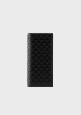 Armani Wallets Men all-over print leather vertical wallet