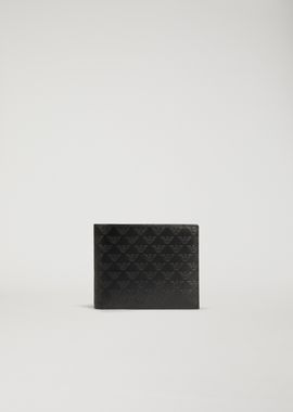 Armani Wallets Men printed and boarded leather wallet