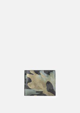 Armani Wallets Men camouflage-effect leather bifold wallet