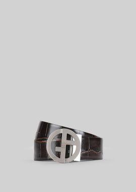 Armani Belts Men reversible leather belt