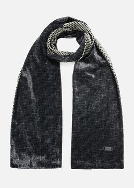 Armani Scarves Men velvet scarf with graphic motif