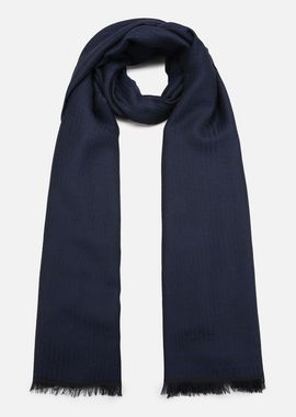 Armani Stoles Men wool scarf with tonal graphic motif