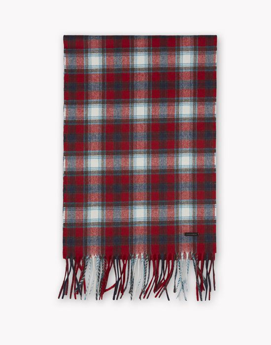 tartan wool flannel scarf other accessories Man Dsquared2