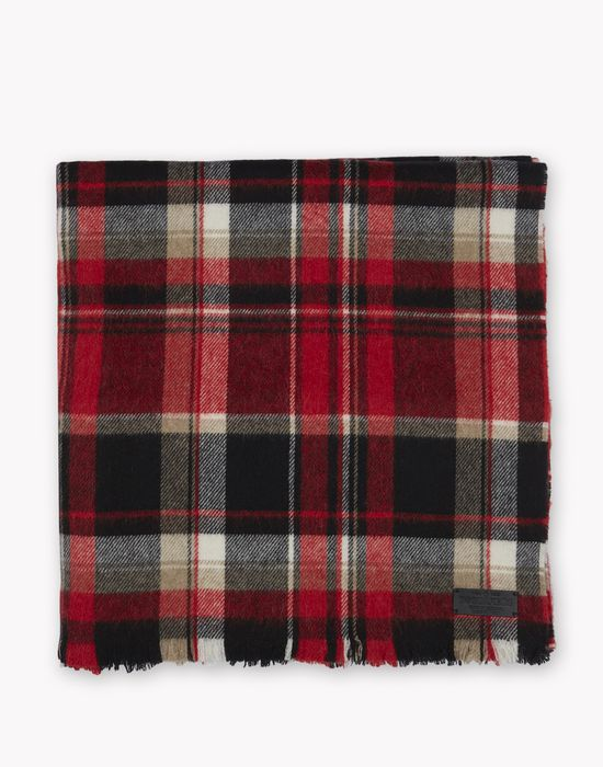 oversize plaid wool flannel scarf other accessories Man Dsquared2