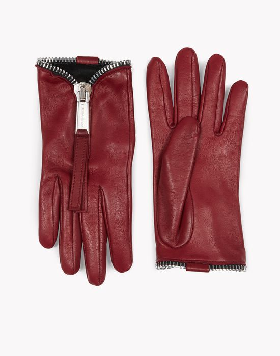zip leather gloves other accessories Woman Dsquared2