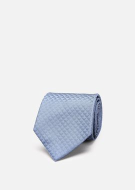 Armani Ties Men silk tie with all-over tonal logo motif