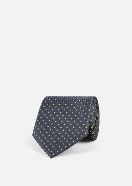 Armani Ties Men silk blend tie with micro graphic motif
