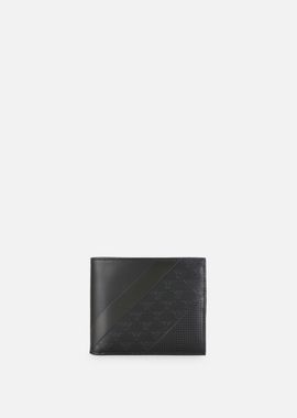 Armani Wallets Men leather bifold wallet with all-over logo pattern