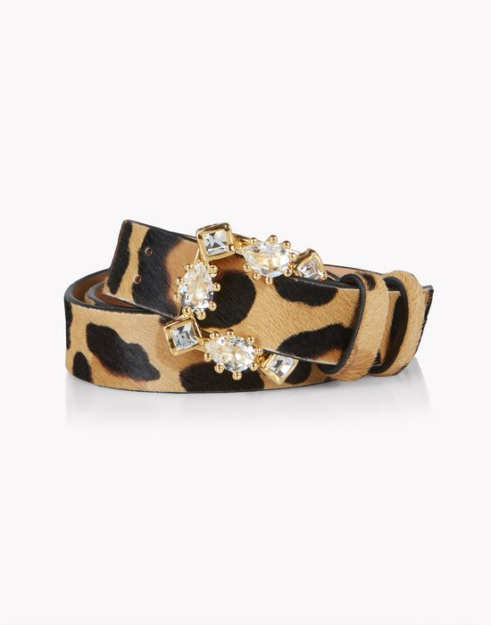 leopard evening treasures belt cinture Donna Dsquared2