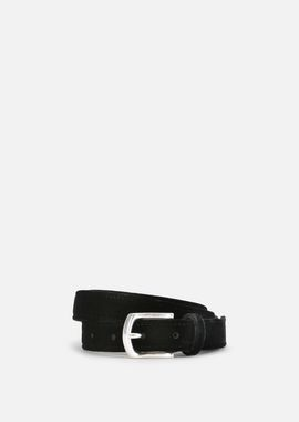 Armani Belts Men crumpled leather belt with velvet fabric detailing