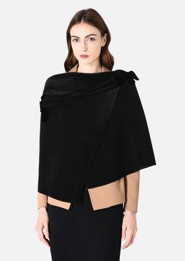 Armani Ponchos Women pleated cloak