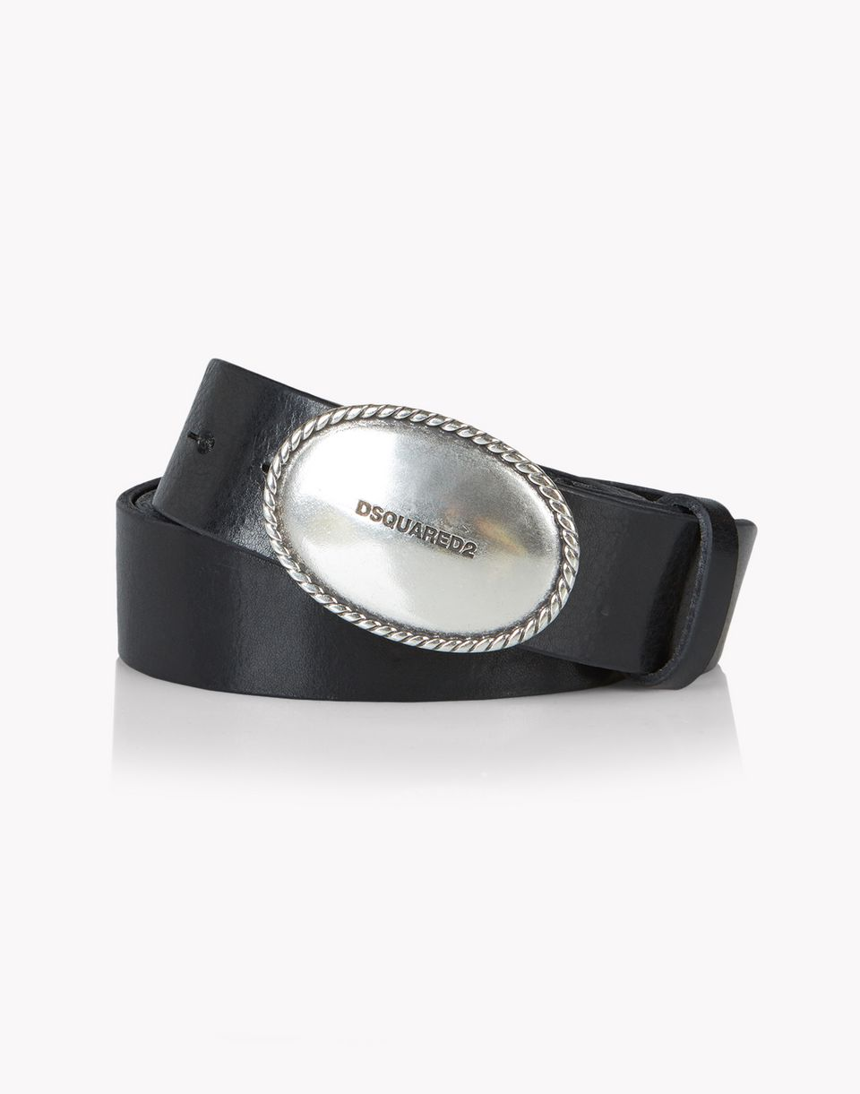 leather caravan buckle belt belts Man Dsquared2
