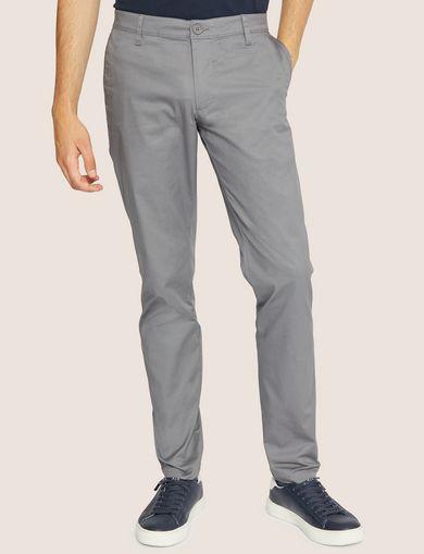 아르마니 익스체인지 Armani Exchange CLASSIC SLIM-FIT CHINO PANTS,Grey