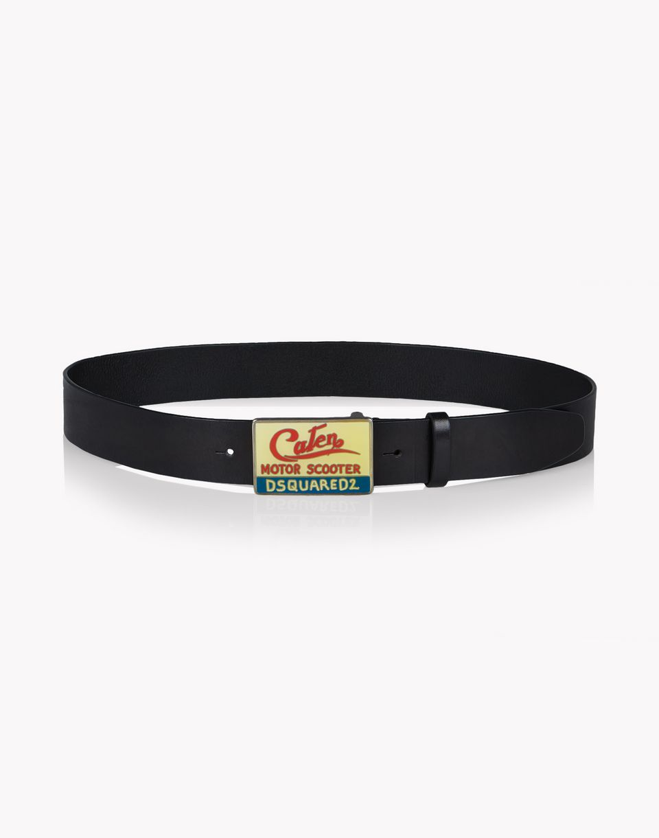 leather caten buckle belt gürtel  Herren Dsquared2