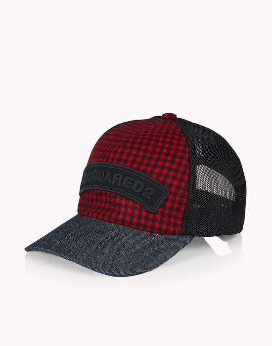 d2 micro check baseball cap other accessories Man Dsquared2